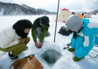Ice Fishing Lake Akan