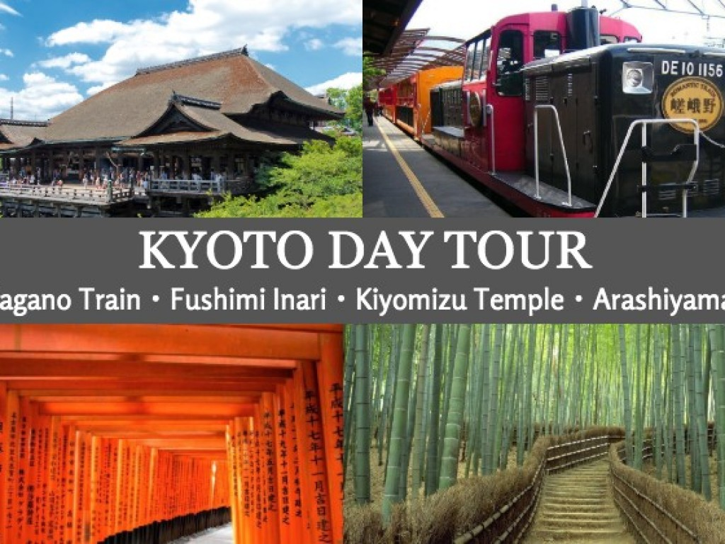 Day Tour to Kyoto from Osaka with Sagano Romantic Train 0