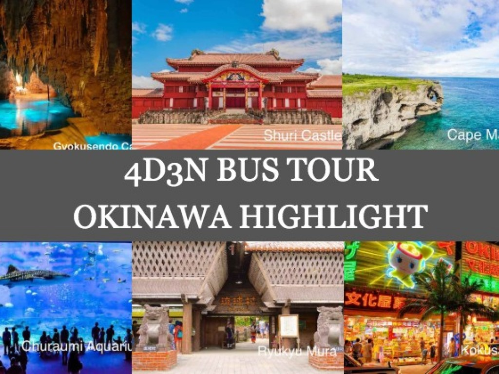 4D3N Cheap Bus Land Tour Package in Okinawa 1